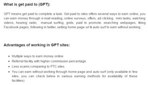 GPT sites