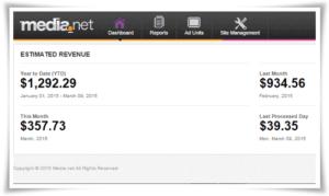 media.net earning