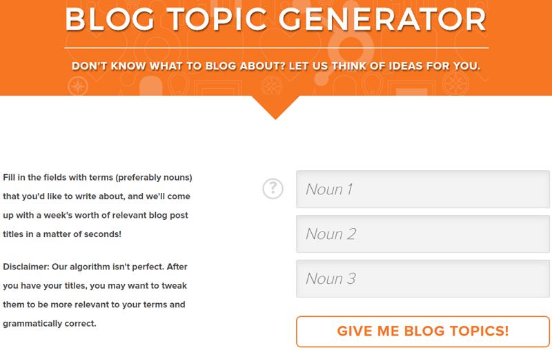 hubspot blog-topic-generator