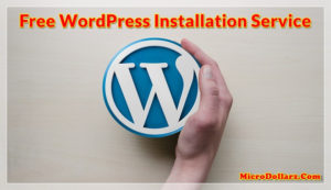 free wordpress installation service