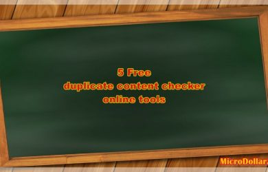 Free Duplicate Content Checker Online Tools